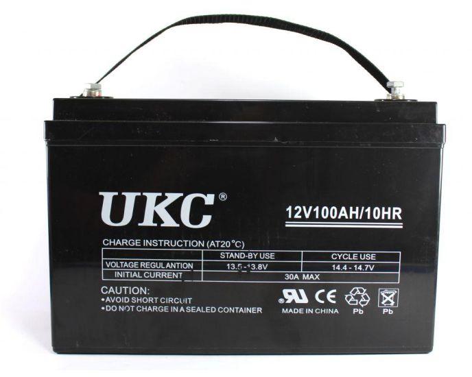 Универсальный гелевый аккумулятор GEL UKC 6-CNF-100 12V 100Ah (Аккумуляторная батарея 12В 100Ач)