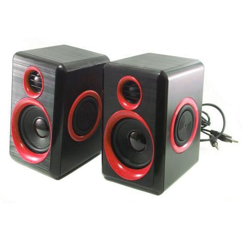 Колонки для ПК компьютера F&T FT-165 Black, Red