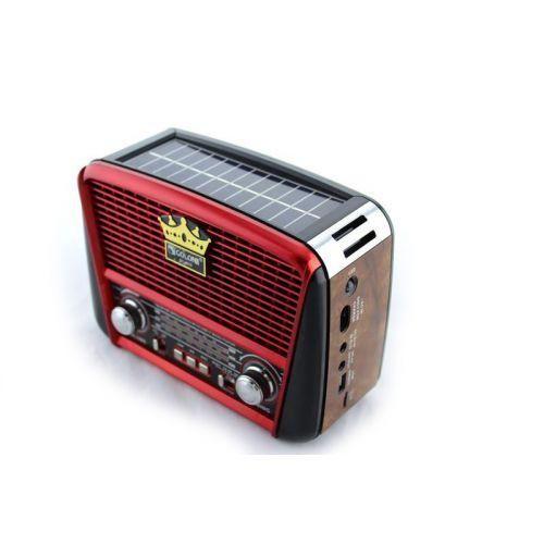 Портативный радио приемник - MP3 колонка Golon RX-455S Solar с солнечной панелью