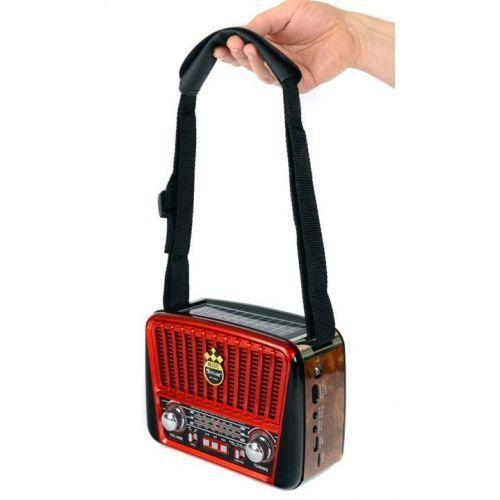 Портативный радио приемник - MP3 колонка Golon RX-456S Solar с солнечной панелью