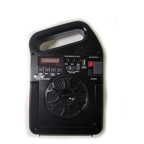 Портативная радио MP3 колонка - фонарь Golon RX-498BT c Power Bank и солнечной панелью