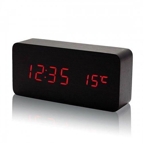 Электронные настольные часы под дерево с подсветкой VST-862-1