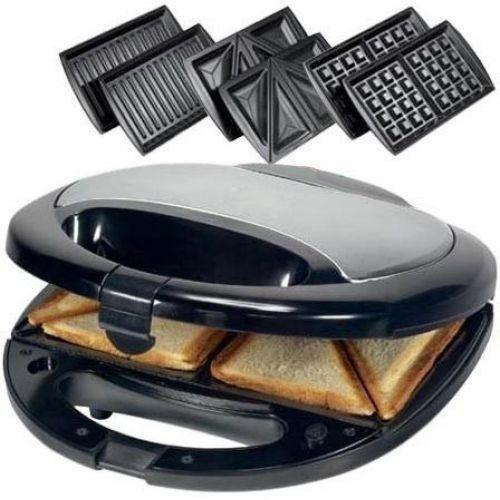 Сендвичница ростер бутербродница тостер 3 в 1 Domotec MS-0770
