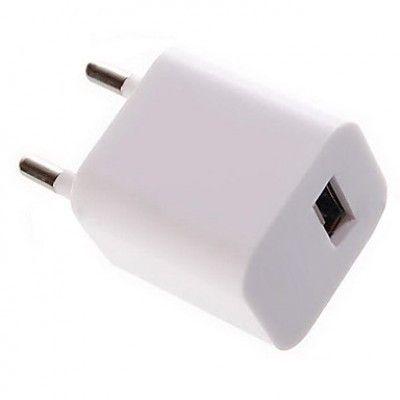 USB Адаптер - зарядка Apple White 220V 1А кубик, блок питания