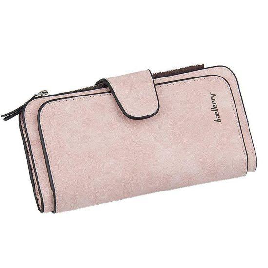 Женский замшевый кошелек Baellerry Forever N2345 Pink светло-розовый