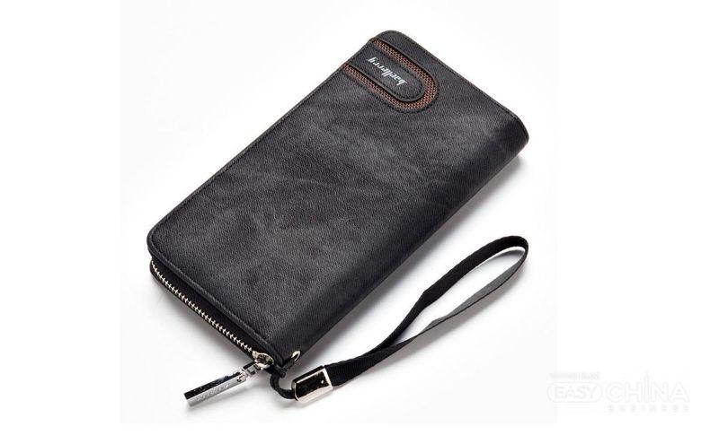 Мужской кошелек клатч портмоне барсетка Baellerry Denim S1514 Black Черный