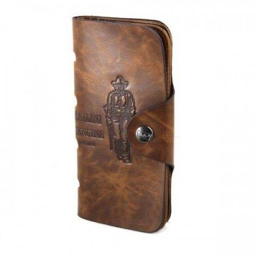 Мужской портмоне Bailini Texas Long Style COK 10 Brown Коричневый