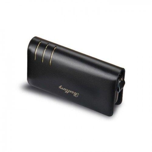 Мужской кошелек Baellerry Casual S6111 Black Черный