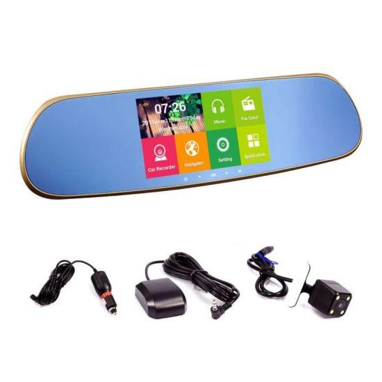 Зеркало заднего вида с видеорегистратором, DVR CT600 Android регистратор с сенсорным экраном и камерой