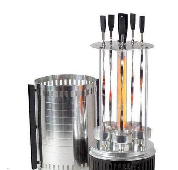 Шашлычница электрическая Wimpex BBQ WX-8601 1000W на 5 шампуров