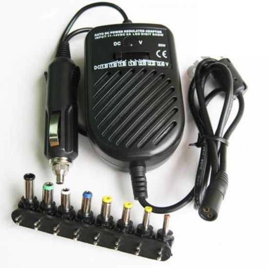 Универсальное автомобильное зарядное для ноутбука Адаптер 80W Note book car charge
