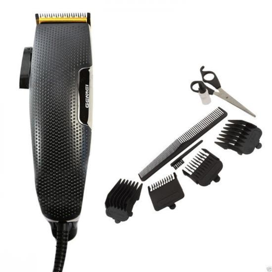Машинка для стрижки волос Gemei GM-806 9W + 4 съемные насадки