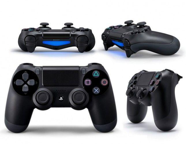 Беспроводной bluetooth джойстик PS4 PlayStation 4 геймпад Черный Black