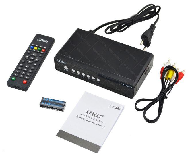 Цифровой эфирный Тюнер T2 UKC HD-2558 в металическом корпусе wi-fi DVB-Т2 ресивер