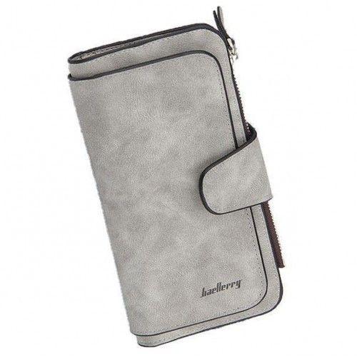 Женский замшевый кошелек Baellerry Forever N2345 Grey серый