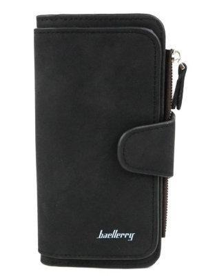 Женский замшевый кошелек Baellerry Forever N2345 Black Черный