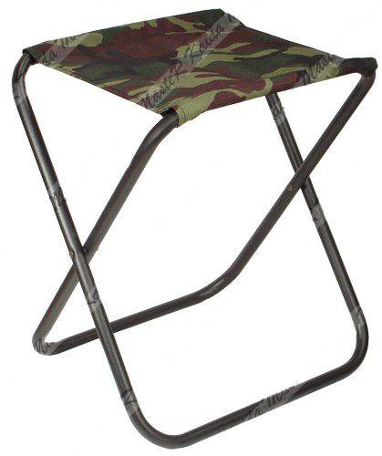 Складной рыбацкий стул без спинки 30x30x35 см камуфляж