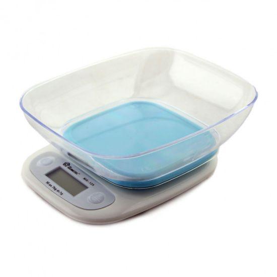 Кухонные весы с подсветкой Domotec MS-125 до 7 кг с чашей Blue Синие