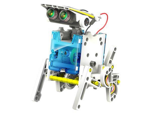 Конструктор робот на солнечной батарее Educational Solar Robot 14 в 1 выполняет функциональные движения