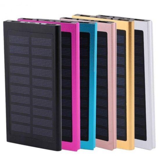 Портативное зарядное Power Bank Smart  на солнечной батарее Solar 89000 mAh Slim тонкий