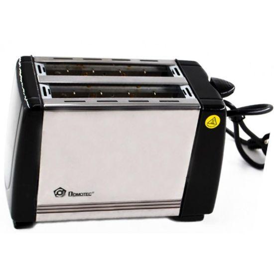 Кухонный тостер Domotec MS-3231 Black Steel 650W нержавеющая сталь