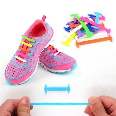 Цветные силиконовые шнурки для обуви Good-Bye Tie радуга