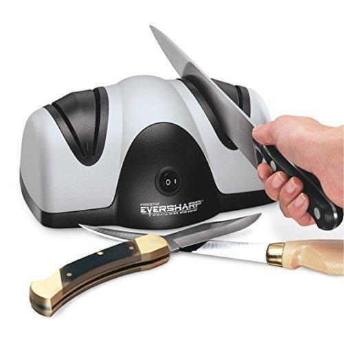 Большая двойная электроточилка для кухонных ножей и ножниц Presto Eversharp Knife Sharpener от сети 220V