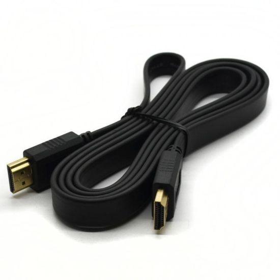 Плоский кабель Hdmi на Hdmi 1080p 1,5м FLAT Black 1.5 м