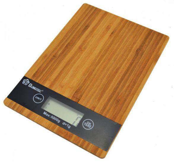 Кухонные электронные деревянные весы Domotec MS-A до 5кг KE-A
