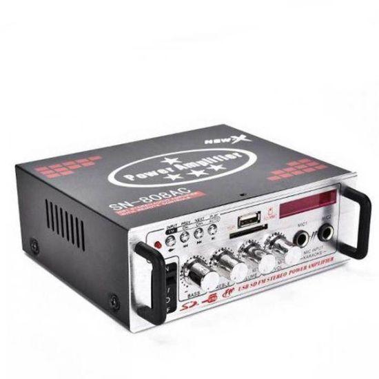 Портативный усилитель мощности звука UKC Xplod SN-808AC 60W 12v / 220v