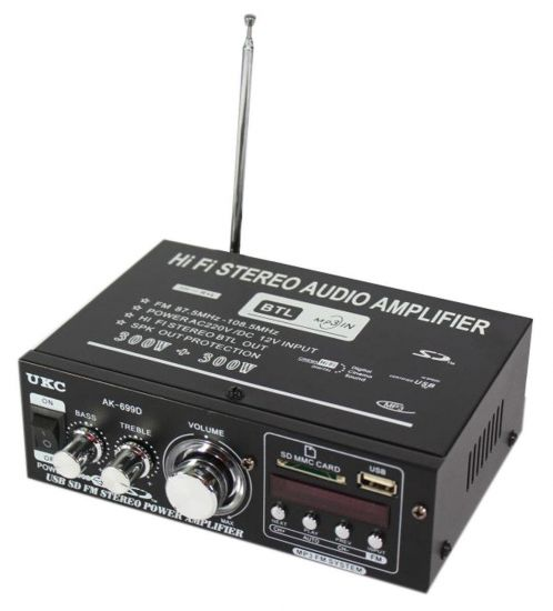 Усилитель UKC Xplod AK-699D 600W MP3 FM 220v 12v