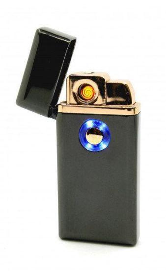 Электронная спиральная зажигалка c газом Lighter TH 705 2 в 1 аккумуляторная от USB, газовая зажигалка 2in1