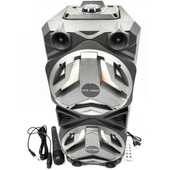 Портативная Bluetooth колонка чемодан KTS-1054 с проводным микрофоном для караоке