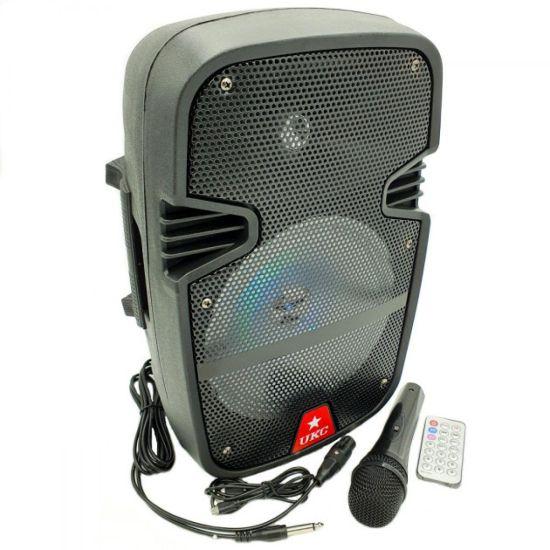 Професиональная портативная колонка UKC RE-258 динамик чемодан с проводным микрофоном для караоке