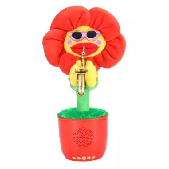 Портативная Bluetooth колонка Dancing Flower G26, Red, Танцующий и поющий цветок красная