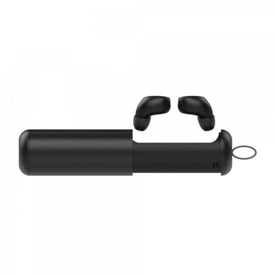 Беспроводные Bluetooth наушники Awei T5 Black, в кейсе черные, чехол док-станция