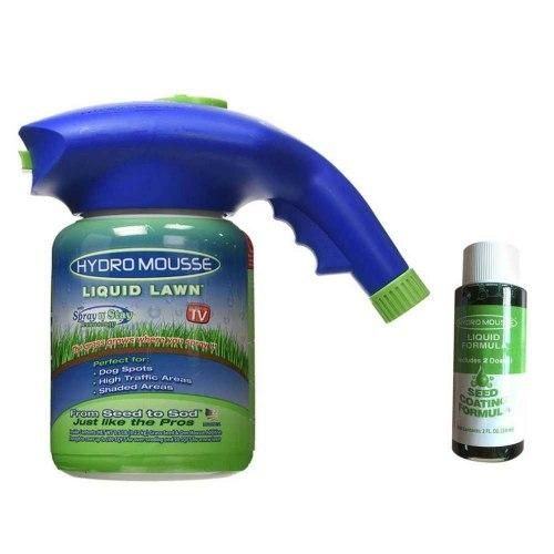 Жидкий газон Hydro Mousse Liquid Lawn 2 в 1 + распылитель для гидропосева (гидро маус)