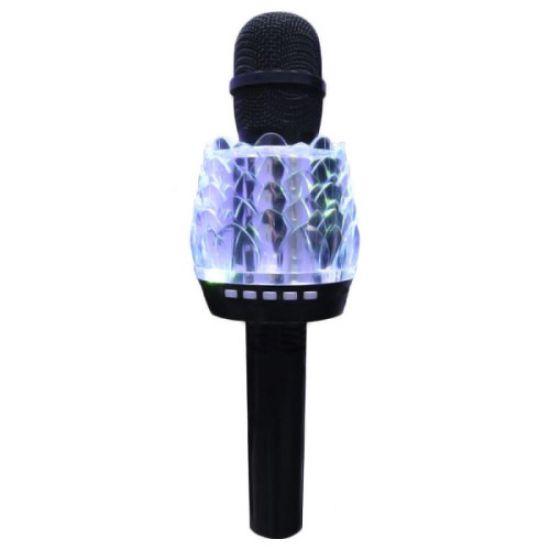 Беспроводной микрофон караоке bluetooth Q101 с led подсветкой Black черный