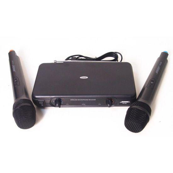 Ручной беспроводной радиомикрофон Bose WR-206, профессиональная радио система база с двумя беспроводными микро