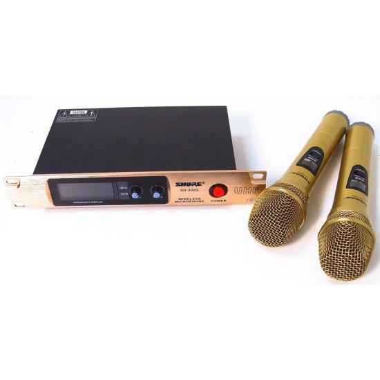 Ручной беспроводной радиомикрофон Shure SH-300G, профессиональная радио система база с двумя беспроводными мик