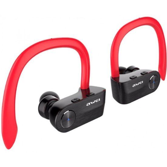 Беспроводные Bluetooth наушники Awei T2 Red, красные