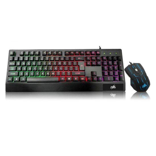 Комплект проводная игровая клавиатура и мышь Zeus M-710