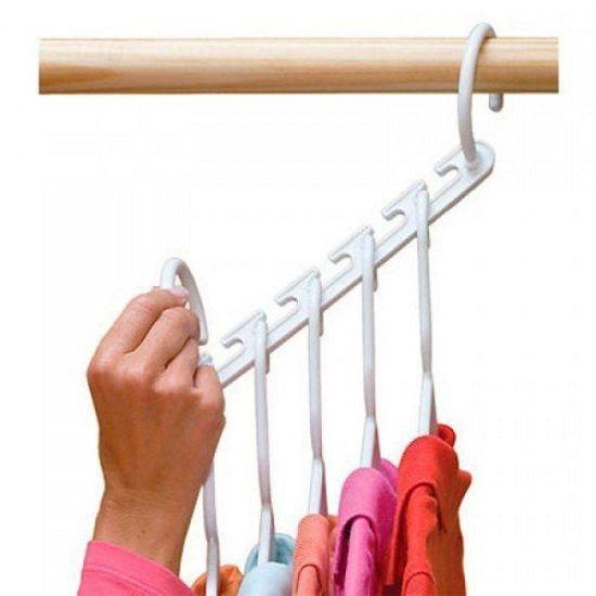 Универсальная складная вешалка для одежды Wonder Hanger (9 вешалок в упаковке)