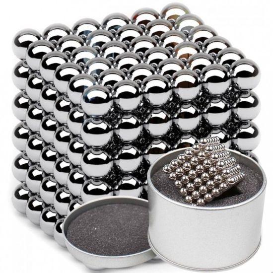Неокуб Оригинал Neocube Silver 216 шариков 5мм в боксе серебристый