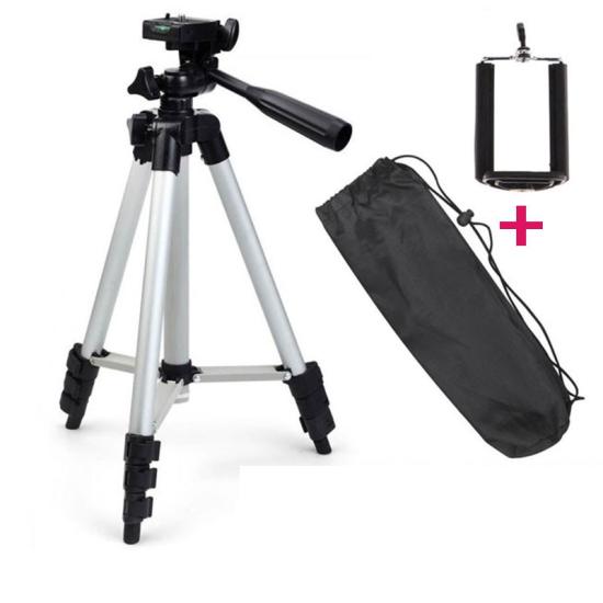 Штатив под фотоапарат Tripod selfie TF-3120 высота 1020 мм тринога для камеры, телефона, трипод для селфи