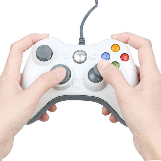 Проводной USB Джойстик для ПК USB-360 White под видом Xbox 360 вибро Белый