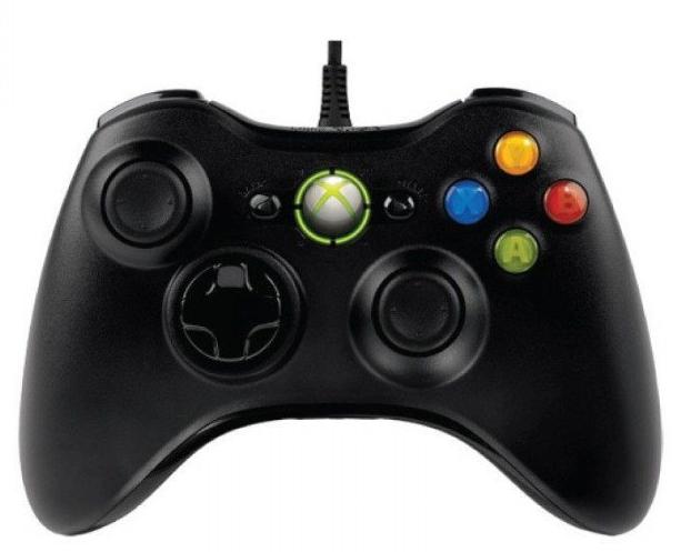 Проводной USB Джойстик для ПК USB-360 Black под видом Xbox 360 вибро Черный