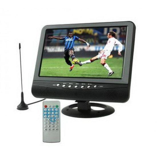 """Автомобильный портативный LCD телевизор 9.5"""" TV Opera OP-902 T2 цветной монитор 9.5 дюймов"""