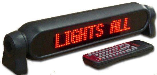 Автомобильная бегущая строка рекламная в автомобиль P750 12V Red от прикуривателя с пультом красная