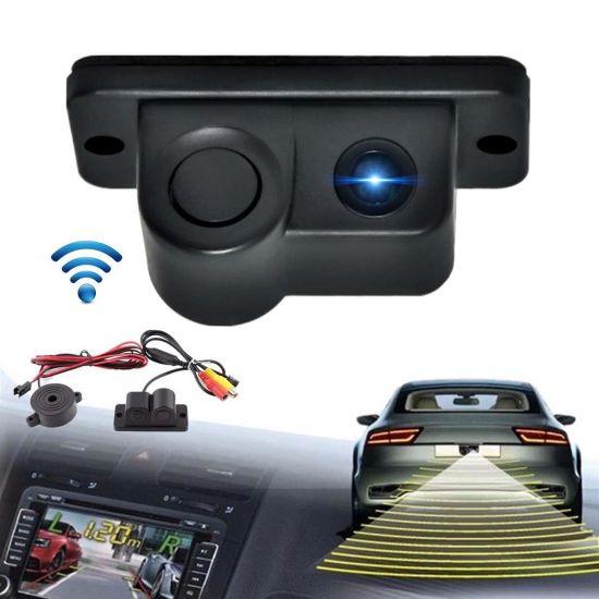 Универсальная автомобильная камера заднего вида Falcon 01R цветная с парктроником, автокамера